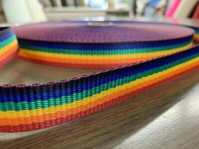 Rainbow PolyProp Webbing 25mm & 38mm Wide Upholstery Sewing Sold By The Metre