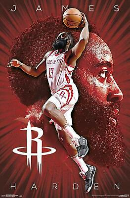 JAMES HARDEN - HOUSTON ROCKETS POSTER - 22x34 - NBA BASKETBALL 17434