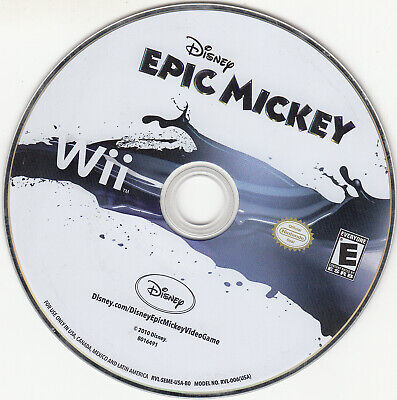 Disney Epic Mickey (Nintendo Wii, 2010) DISC ONLY WORKS