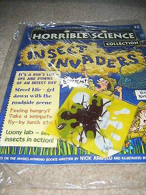 NOS new Horrible Science mag 15 insect invaders + cards school homework bbc tv