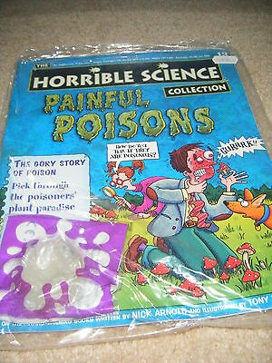 NOS new Horrible Science mag 13 painful poisons + cards school homework bbc tv