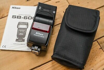 Nikon Speedlight SB-600 Shoe Mount Flash, with pouch and instruction book
