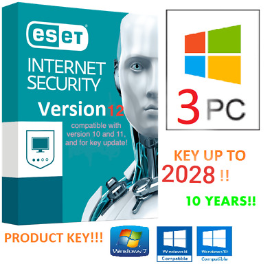 🌟ESET Internet Security 2019 💥Product Key 10 YEARS / ANNI - 3 PC • Up to 2028