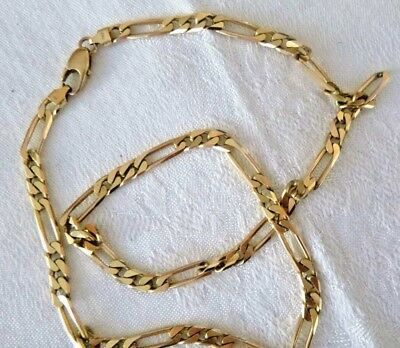 ccb5372d9 14K Yellow Gold Figaro Link Necklace Neck Chain 24 Grams 18 Inches