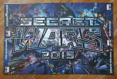 SECRET WARS NYCC 2015 ALEX ROSS CONNECTING Variant Covers - 4 issues RARE LOT!