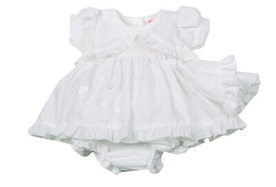 Premature Preemie Baby Girls clothes Dress and Knickers White 3-5lb 5-8lb reborn