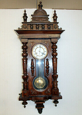 Antique Wall Clock Vienna Regulator 19th century Cimes Clock