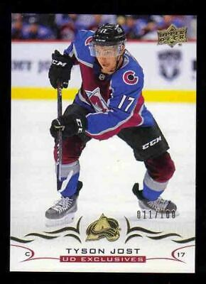 2018-19 Upper Deck Series 2 UD Exclusives /100 TYSON JOST Colorado Avalanche