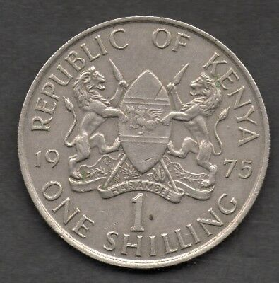 Kenya one shilling 1975 coin