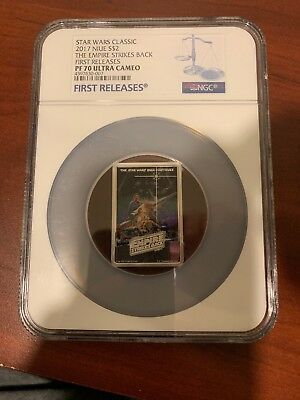 2017 NIUE Star Wars Posters Empire Strikes Back Silver $2 NGC PF70 FIRST RELEASE