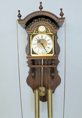 *Old Table Clock Vintage 8 day Clock Tempus Fugit *