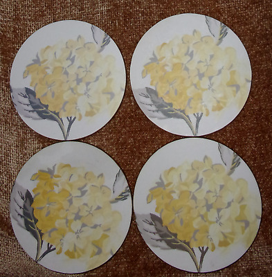Laura Ashley Coasters ~ Hydrangea Camomile Set of 4 ~Superb Con ~ TWO Sets Avail