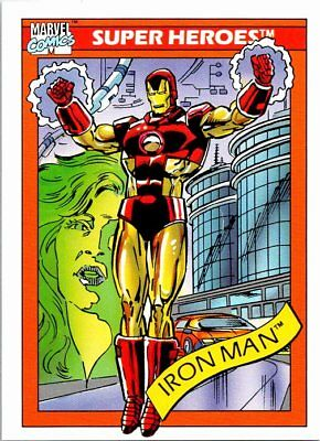 1990 Impel Marvel Universe Series I Card #42 Iron Man