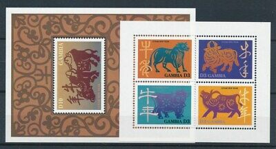 [70513] Gambia 1997 2 good sheets Very Fine MNH