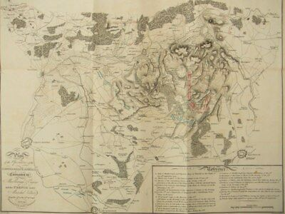 Engraving map Battle of Malplaquet by C. H. Smith Major; Neele & Son 1865
