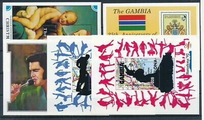 [G71580] Gambia 5 good sheets Very Fine MNH