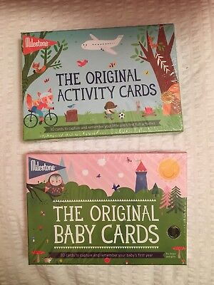 Milestone The Original Baby Cards and Activity cards both boxes sealed
