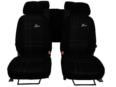 ECO LEATHER TAILORED FRONT SEAT COVERS MADE FOR VAUXHALL GRANDLAND X 2017 ON