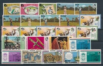 [G99852] Gambia good lot Very Fine MNH stamps
