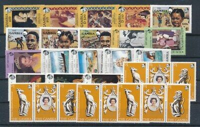 [G99859] Gambia good lot Very Fine MNH stamps