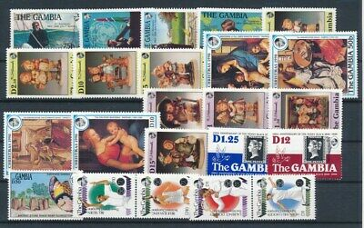 [G99862] Gambia good lot Very Fine MNH stamps
