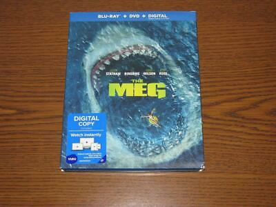 The Meg (Blu-ray/DVD, 2018) with Slip Cover