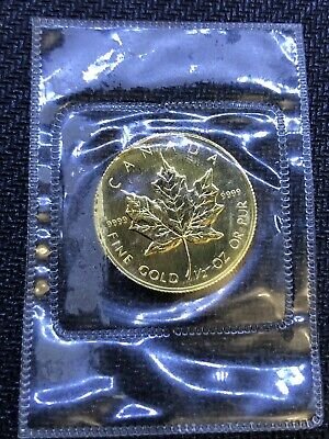 Canada Gold Maple Leaf - 1/2 oz - $20 .9999 Fine - 1986