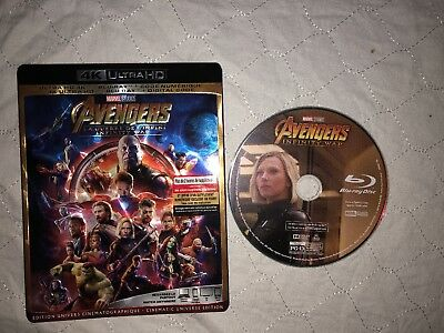 Avengers: Infinity War (2018) Blu-Ray (Disc Only)
