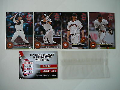 San Francisco Sf Giants National Baseball Card Day 2018 Topps Cards Sga