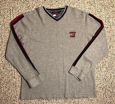 60a9c743a VTG TOMMY HILFIGER Tommy Jeans Sports Edition Gray Pullover Sweater ...