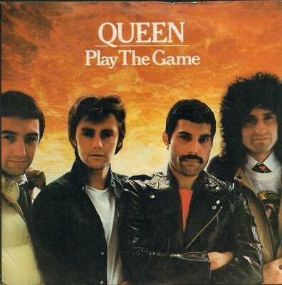 """Queen Play The Game - White label design + p/s UK 7"""" vinyl single record"""