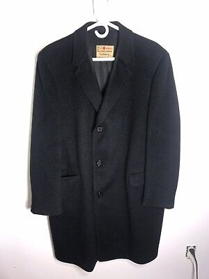 Men's Merino Wool And Cashmere Overcoat  Business Formal Lawyer Banker Classic