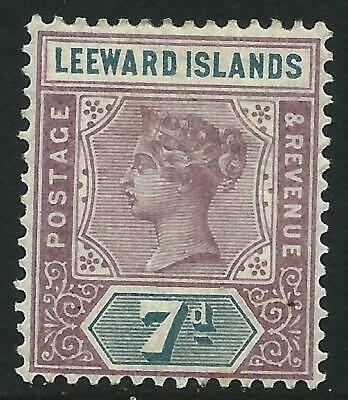LEEWARD ISLANDS - 1890 QV 7d Dull Mauve & Slate SG 6  MNH Cv £9  [9500]