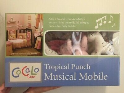 CoCaLo Tropical Punch Baby Cot Musical Mobile