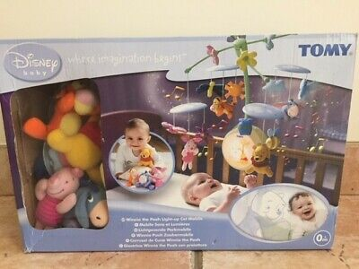 Winnie The Pooh Light Up Baby Cot Musical Mobile