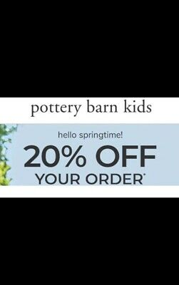 Pottery barn kids 20% Entire order 1coupon (not 15%) (works on furnitures)