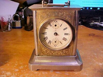 JUNGHANS Carriage Brass Antique Clock Made in Germany Not Working Project
