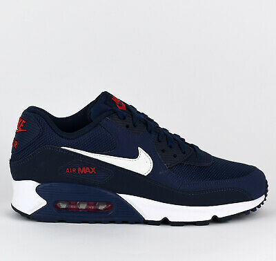 cb94ba4d45 Nike Air Max 90 Essential Men Lifestyle Sneakers New Midnight Navy  AJ1285-403