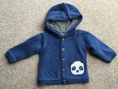 BABY BOYS  HOODED  NAVY JACKET. JOHN LEWIS. AGE 0-3 months