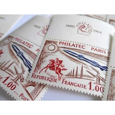 N°___1422 Lot De Timbres Philatec (1964) Et Demi-Blocs N°6
