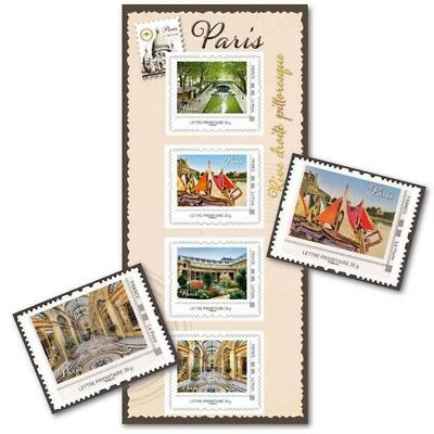 Collector Paris Pittoresque Rive Droite (2013) Timbres Lettres 20G Autoadhesifs
