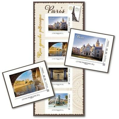 Collector Paris Pittoresque Rive Gauche (2013) Timbres Lettres 20G Autoadhesifs