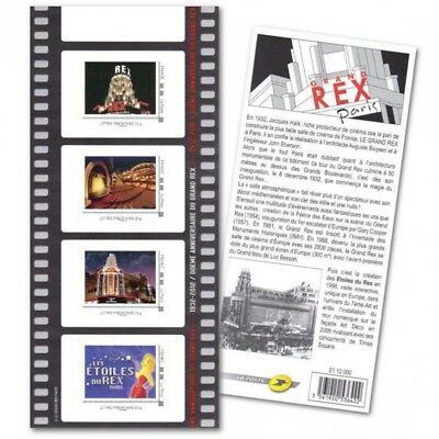 Collector Grand Rex Paris (2012) Timbres Lettres 20G Autoadhesifs