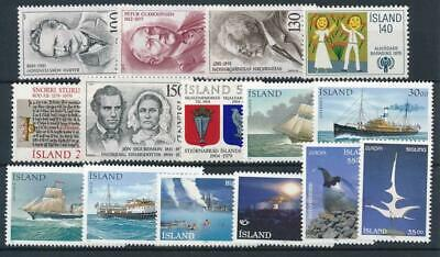 [121937] Iceland good lot of stamps very fine MNH