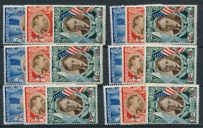 [122097] San Marino 1947 Airmail good sets (6) of stamps very fine MNH