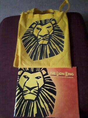 Lion King The Musical Large Brochure From London Lyceum Theatre w/ Official Bag