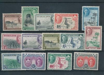 [5763] Nyasaland 1945 good set very fine MH stamps value $75