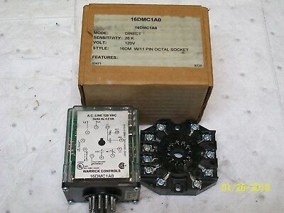 NEW WARWICK LEVEL CONTROL RELAY with SOCKET BASE 120V , 16DMC1A0
