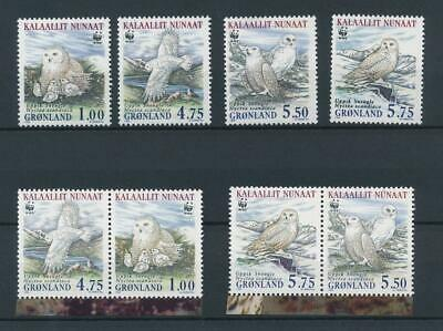 [6351] Greenland 1999 birds WWF good set very fine MNH stamps (2x)