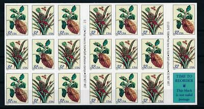 [G12654] USA 1996 flora good complete booklet very fine adhesive